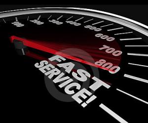 Fast Service, Speedy Customer Support
