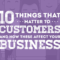 10 Things That Matter to Customers and How These Affect Your Business [Infographic]