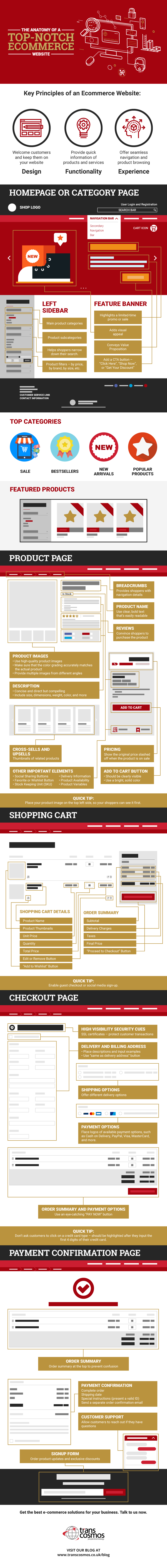 The Anatomy of a Top-Notch Ecommerce Website-infographic