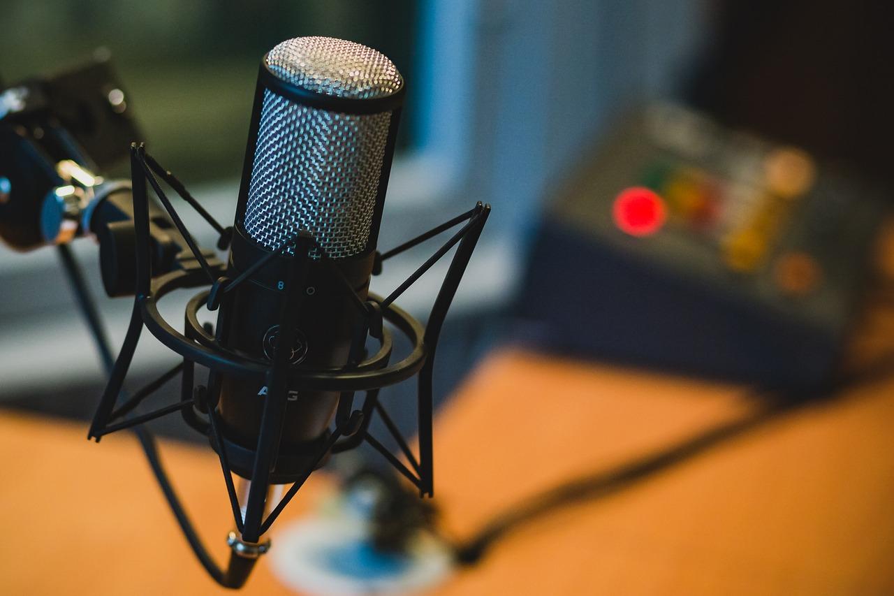 photo of a studio microphone